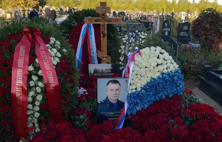 Похороны Евгения Зиничева прошли вчера в Санкт-Петербурге