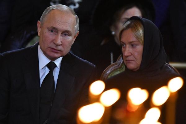 Владимир Путин на церемонии прощания