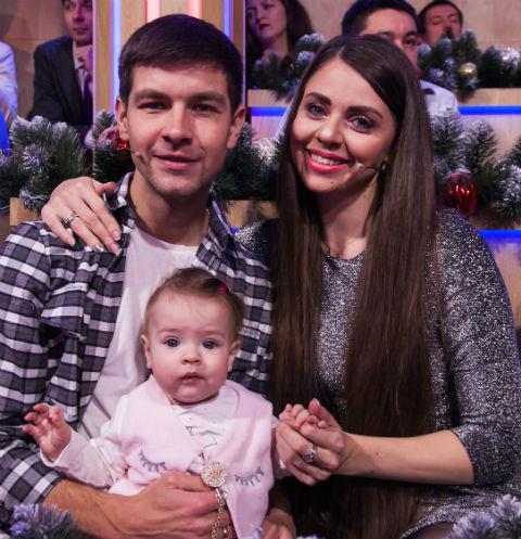 Дмитрий Дмитренко и Ольга Рапунцель с дочкой
