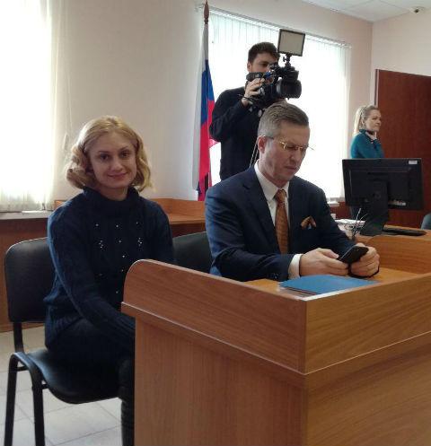 Карина Мишулина в зале Тушинского суда