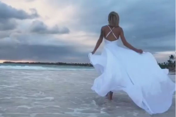 Недавно Хромина отпраздновала свадьбу в Доминикане