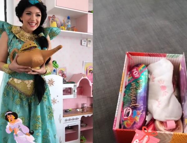 Принцесса Жасмин вручила подарок Майе