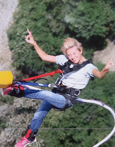 Екатерина Архарова прыгнула с тарзанки