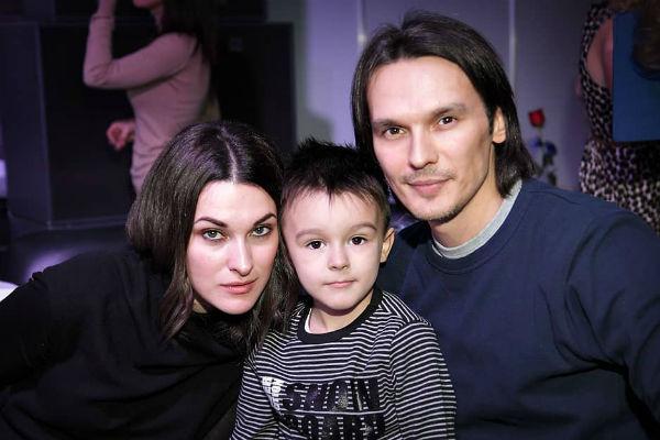 Сташевский с женой и сыном
