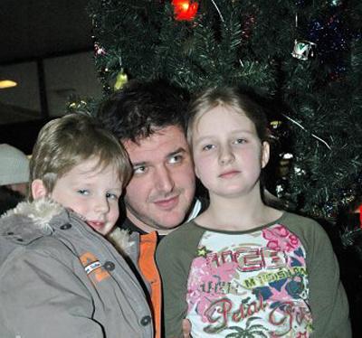 Максим с детьми - Полиной и Даниилом